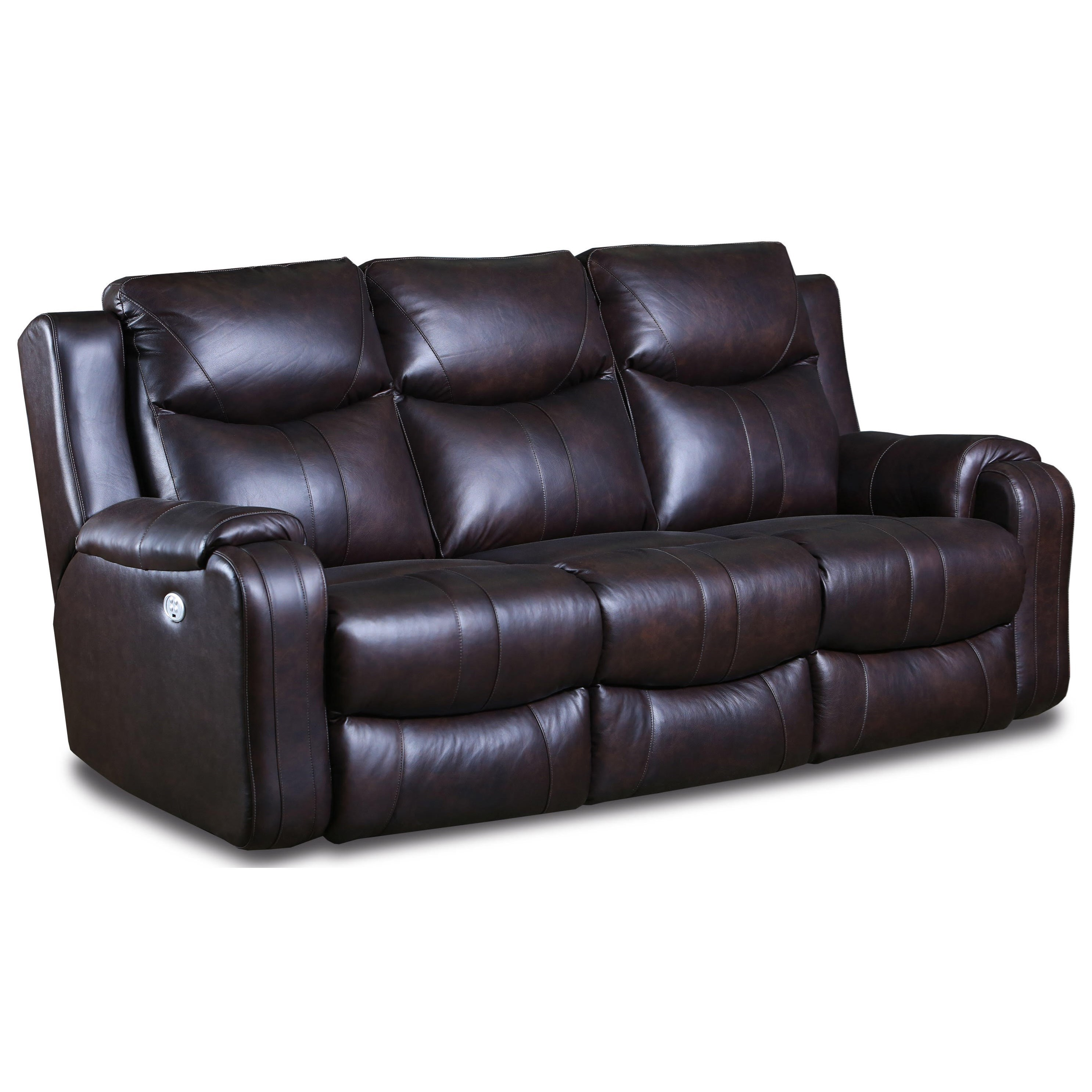 Marvel Double Reclining Sofa with Power Headrests by Southern Motion at Sparks HomeStore