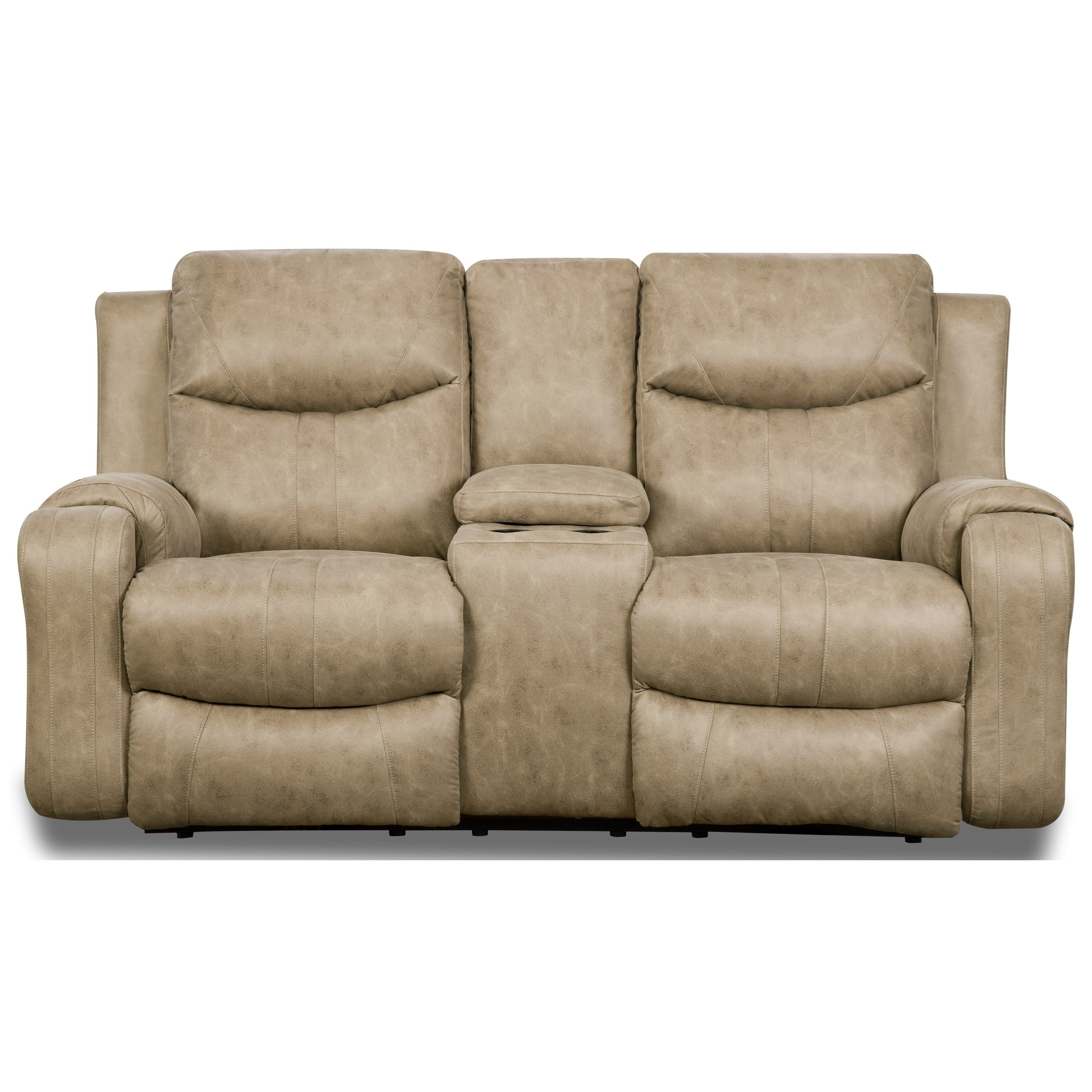 Marvel Reclining Sofa with Console & Power Headrest by Southern Motion at Darvin Furniture