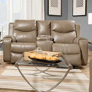 Double Reclining Sofa with Console and Power Headrests