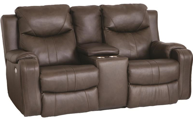 Marvel Dual Reclining Power Console Loveseat With P by Southern Motion at Darvin Furniture