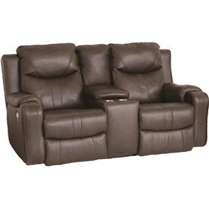 Dual Reclining Power Console Loveseat With Power Headrests
