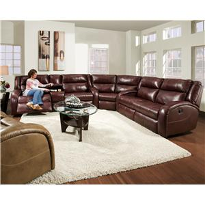 Reclining Sectional Sofa with Contemporary Style