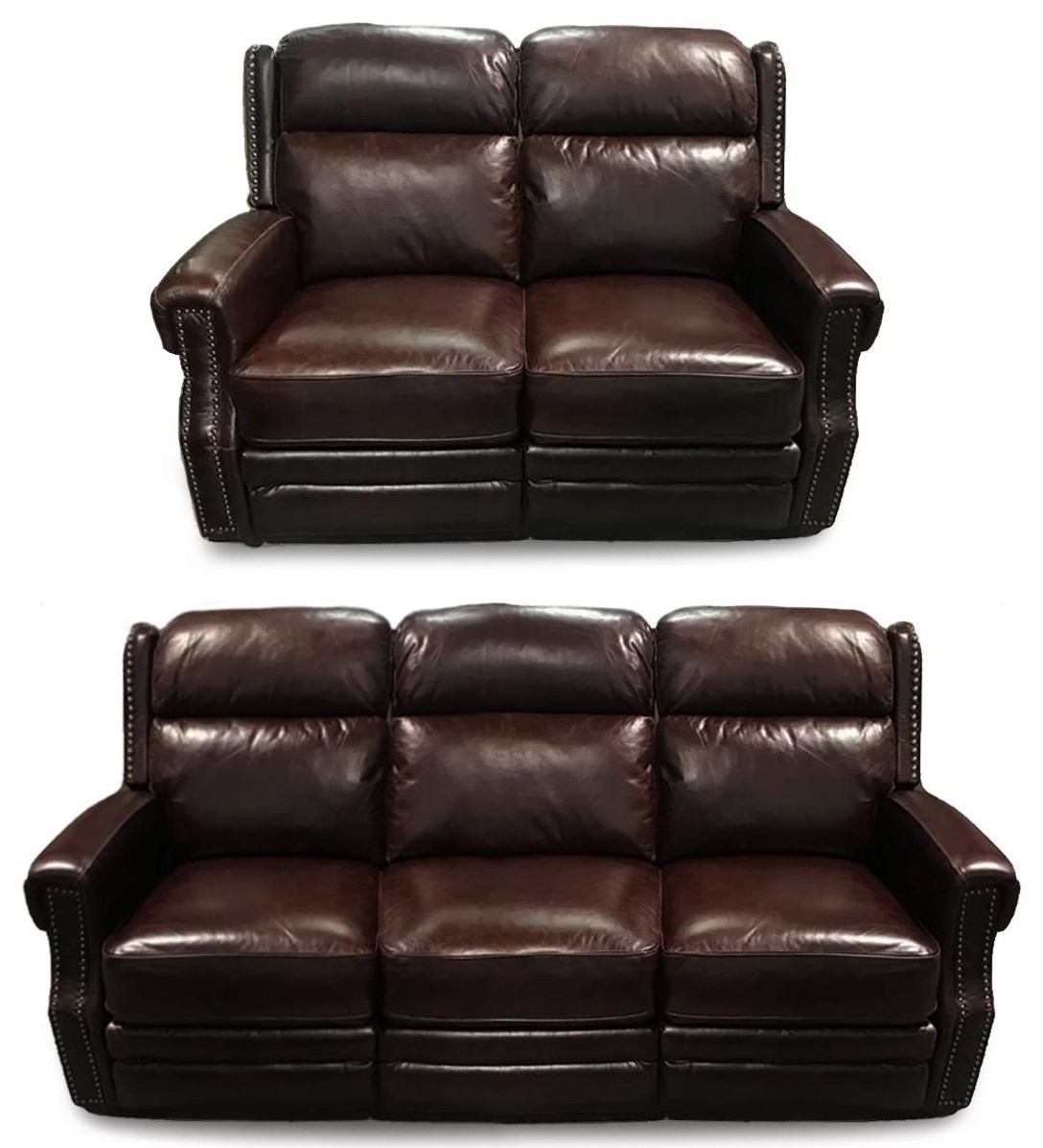Nathan 2PC Power Recline Sofa & Loveseat Set by Design to Recline at Rotmans