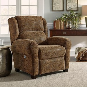 Traditional Power Headrest High-Leg 3-Way Recliner with Wireless Power