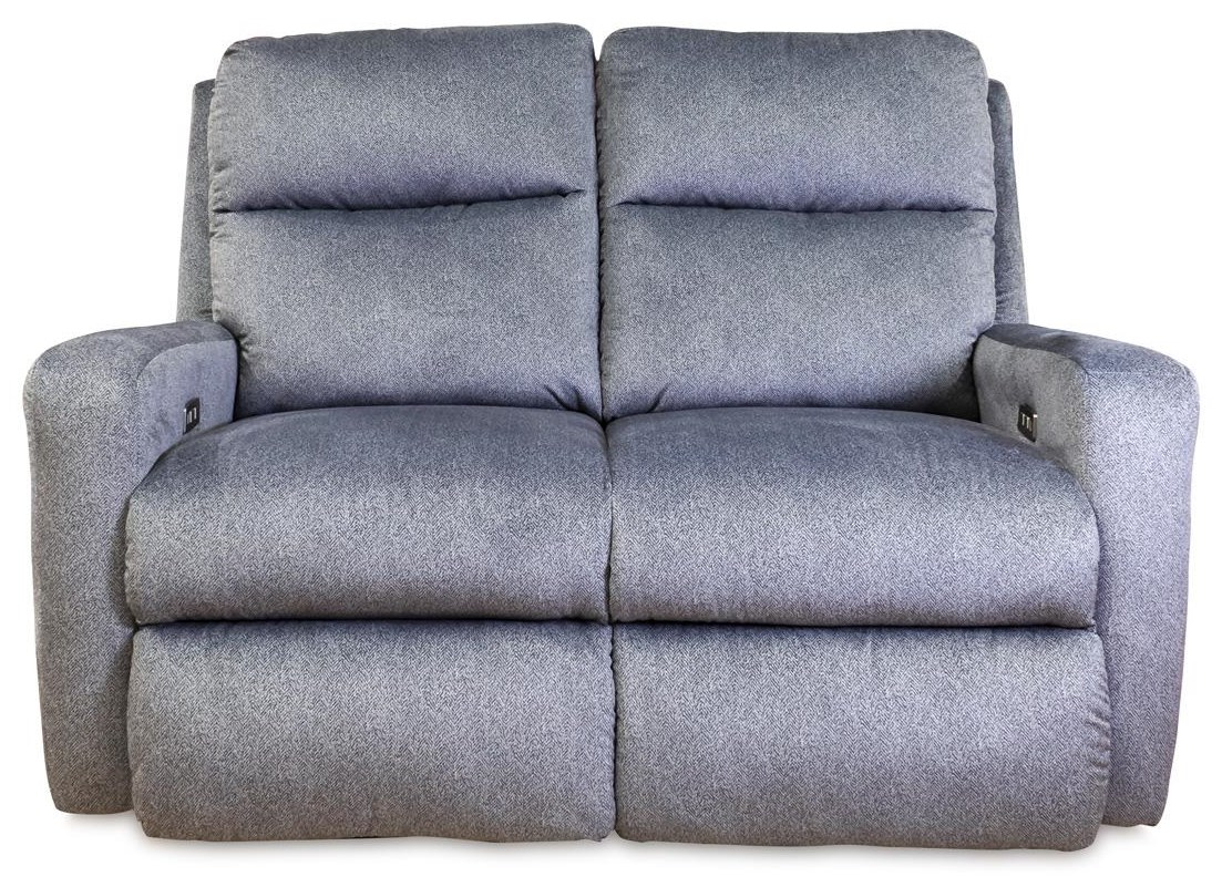 Mohair - Indie Contemporary Power Reclining Loveseat by Design to Recline at Rotmans