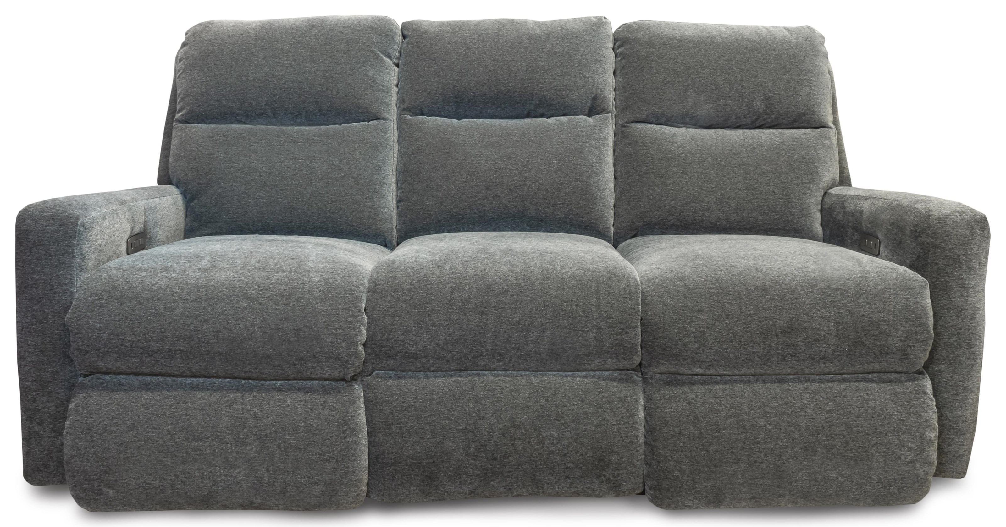 Mohair - Indie Power Headrest Sofa by Design to Recline at Rotmans