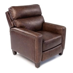 Transitional Power High Leg Recliner with USB Port