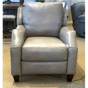 Power Leather Hi-Leg Recliner