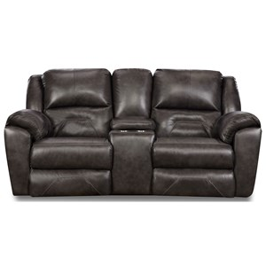 Double Recl. Console Sofa w/ Power Headrest