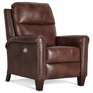 Contemporary Power Headrest High Leg Recliner with Lumbar Support
