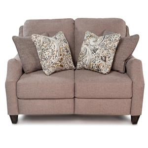 Transitional Power Loveseat with Pillows and USB Port