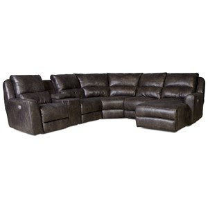 Power Reclining Sectional Sofa with 5 Seats