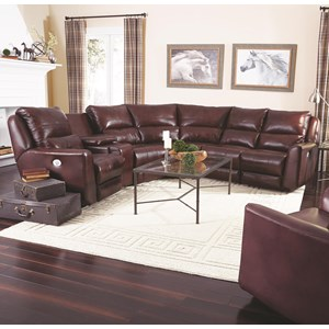 Reclining Sectional Sofa with 5 Seats (no chaise)