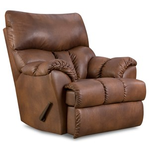 Casual Styled Rocker Recliner for Family Room Comfort