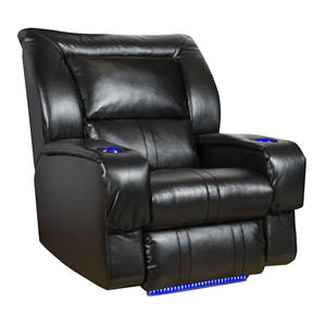 Wall Hugger PowerPlus Recliner with LED Lights & Cup Holders