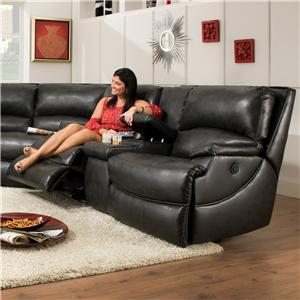 Southern Motion Shazam  Power Reclining Console Sofa