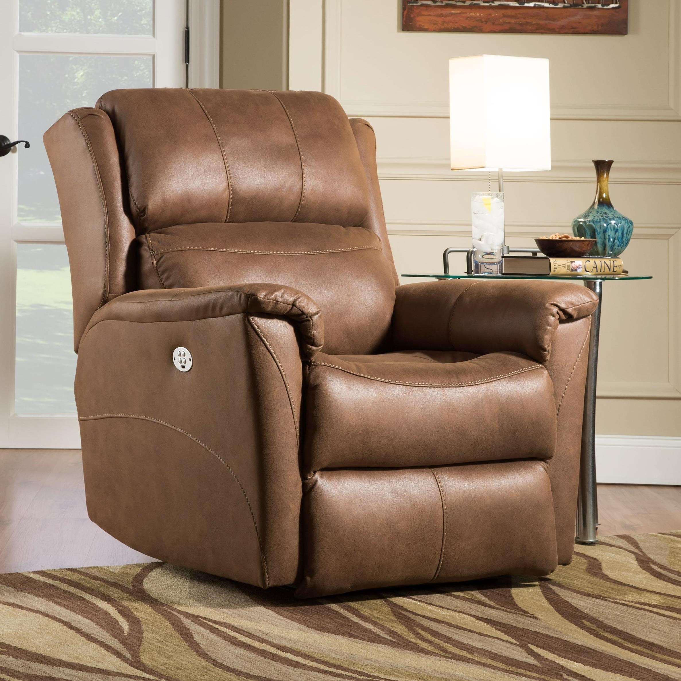 Shimmer Power Headrest Lift Recliner w/ SoCozi by Southern Motion at Sparks HomeStore