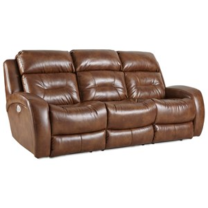 Double Reclining Sofa with Power Headrest and Drop Down Table