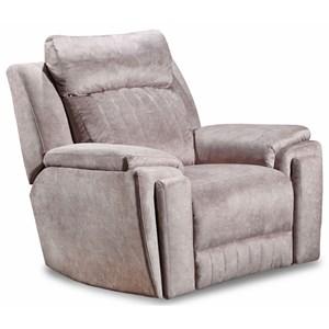Contemporary Power Headrest Recliner with iRecliner