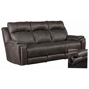 Contemporary Power Headrest Sofa with Hidden Arm Cup Holders