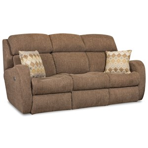 Southern Motion Siri Reclining Sofa w/ Power Headrests & Pillows