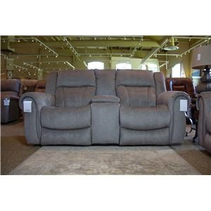 Tweed Reclining Console Loveseat