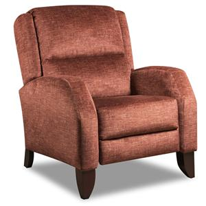 High Leg Recliner with Curved Arms