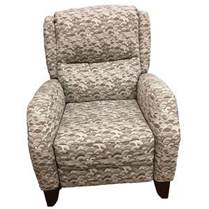 High Leg Power Recliner with Curved Arms