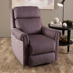 Transitional Power Headrest Rocker Recliner with SoCozi Technology
