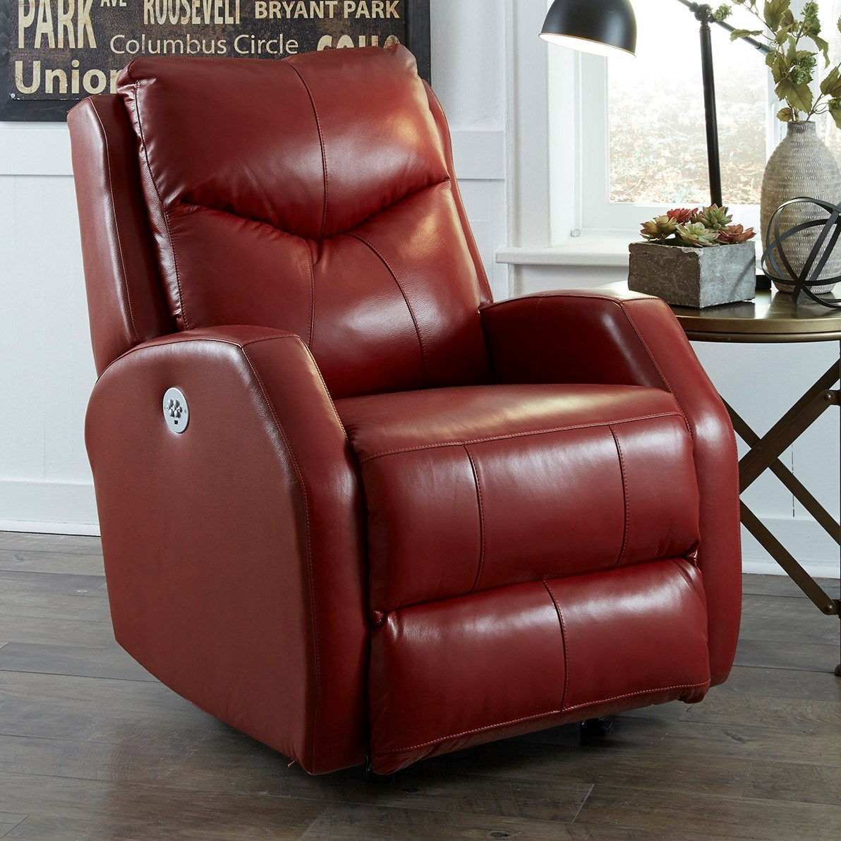Tip Top Power Wallhugger Recliner by Southern Motion at Lapeer Furniture & Mattress Center