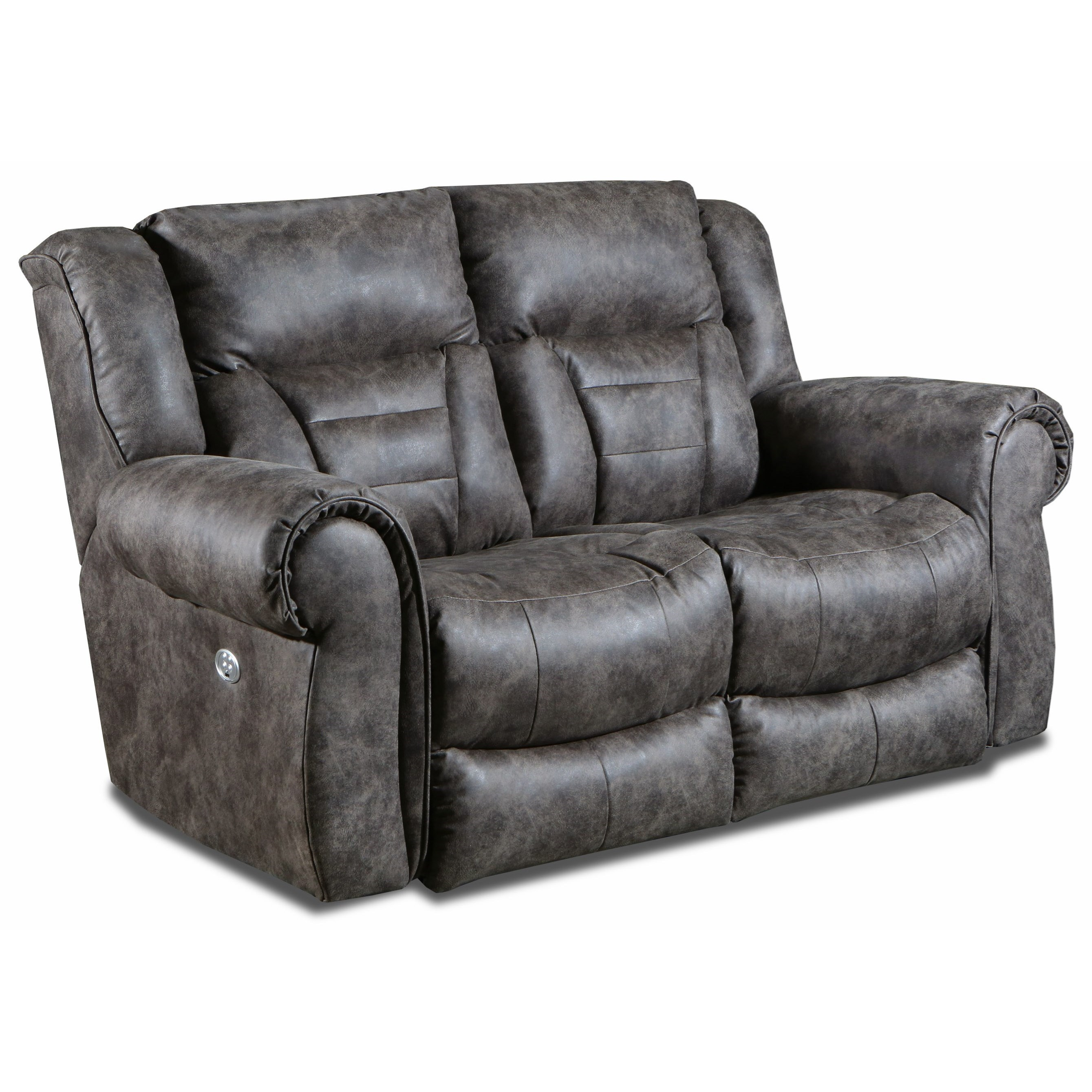 Titan Power Headrest Double Reclining Loveseat by Design2Recline at Michael Alan Furniture & Design