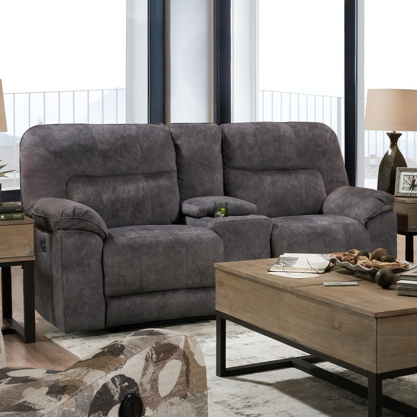 Top Gun Power Loveseat w/ Console by Southern Motion at Furniture Barn