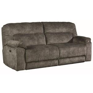 Casual Power Headrest Reclining Sofa