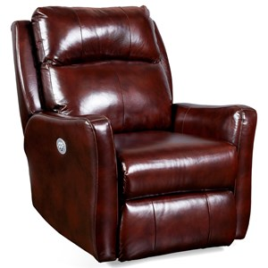 Transitional Power Headrest Rocker Recliner with Memory Plus