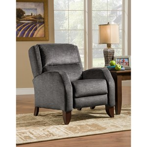 Transitional Power Plus High-Leg Recliner with USB Port