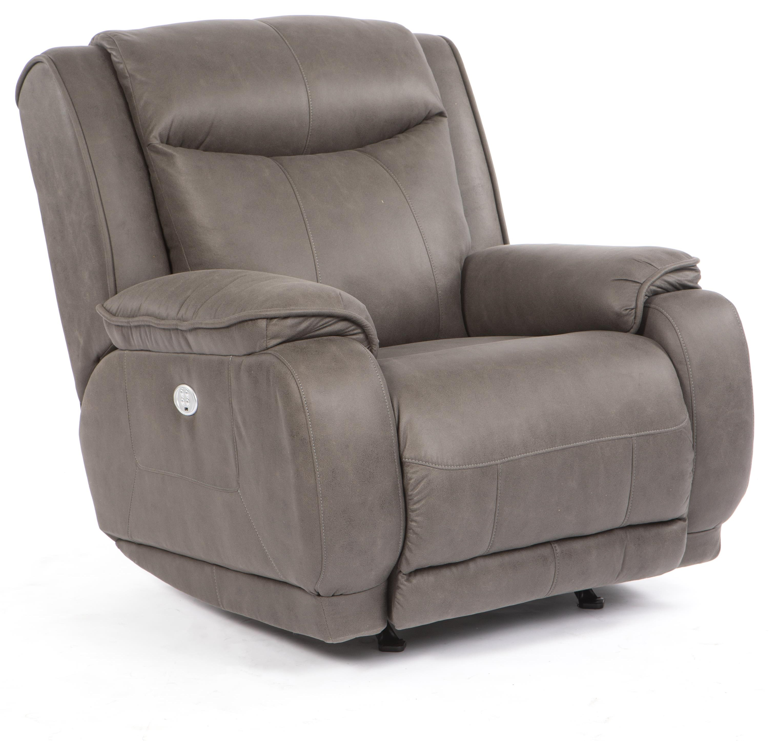 Velocity Power Headrest Rocking Recliner by Southern Motion at Crowley Furniture & Mattress