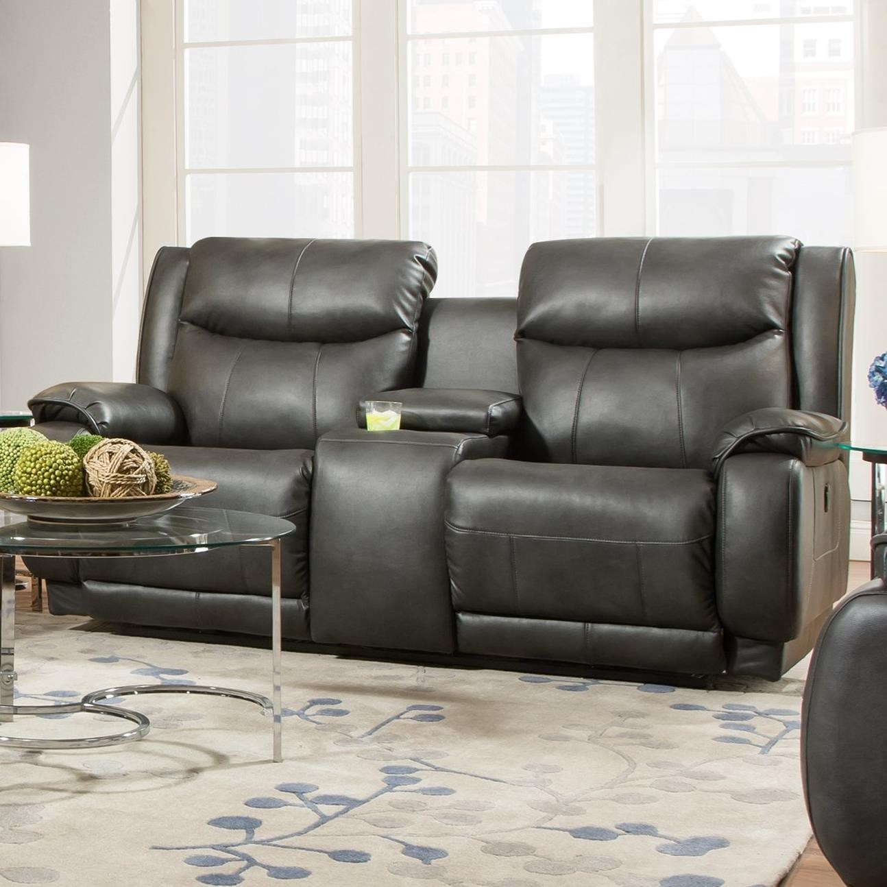 Velocity Power Plus Double Reclining Console Loveseat by Southern Motion at Lindy's Furniture Company