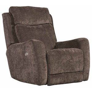 Transitional Power Plus Rocker Recliner with USB Port