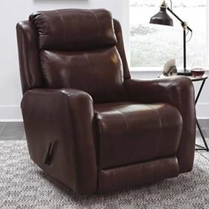 Transitional Rocker Recliner with Pad-Over-Chaise Seating