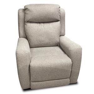 Transitional Power Wall Hugger Recliner with Pad-Over-Chaise Seating