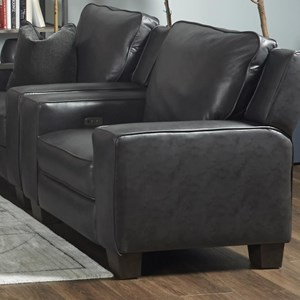 Transitional Power Plus High Leg Recliner with USB Port