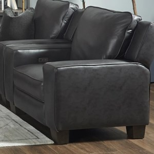 Transitional Power Headrest High Leg Recliner with USB Port
