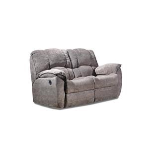 Casual Rocking Reclining Loveseat with Pillow Arms