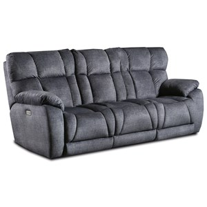 Casual Double Reclining Sofa w/ Dropdown Table