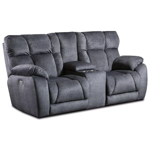 Power Headrest Loveseat w/ Console With Cuph