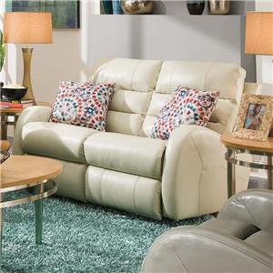 Southern Motion Wonder POWER Recl Rocking Loveseat with 2 Pillows