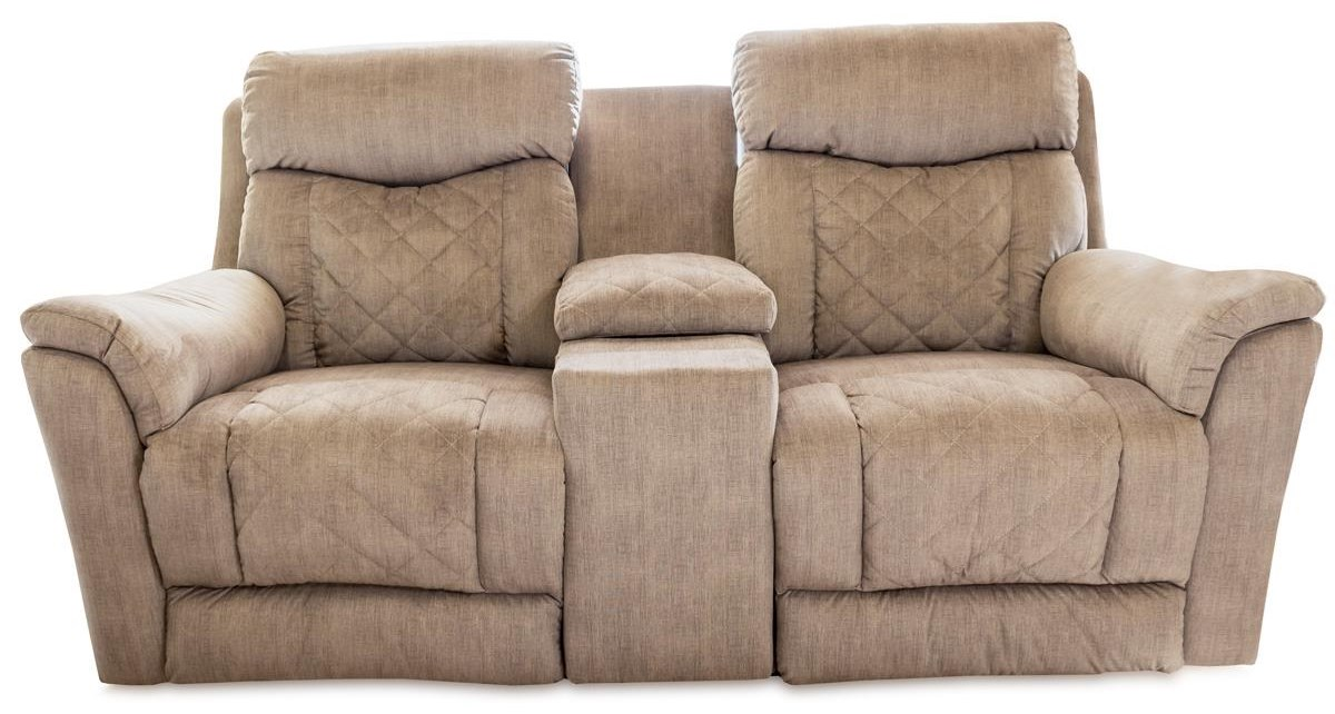 Entourage Pwr Dbl Recl Loveseat w/ Cnsl & Cup Holders by Design to Recline at Rotmans