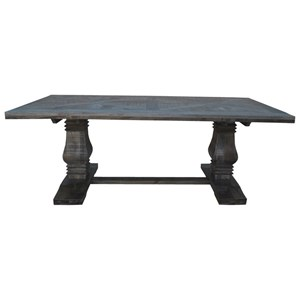 "83"" Trestle Dining Table"
