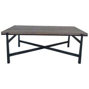 Coffee Table with Metal Base