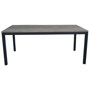"71"" Metal and Wood Dining Table"